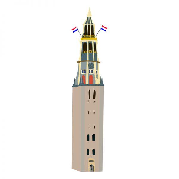 Vector illustratie kerk Groningen