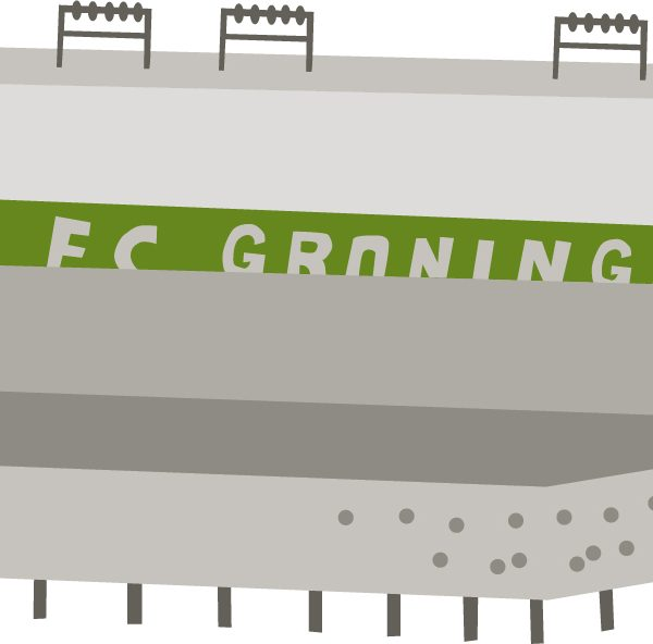 voetbalstadion groningen vector illustratie